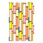 Retro Blocks Shower Curtain 48  x 72  (Small)  42.18 x64.8 Curtain