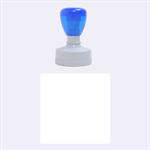 Retro Blocks Rubber Round Stamps (Medium) 1.5 x1.5  Stamp