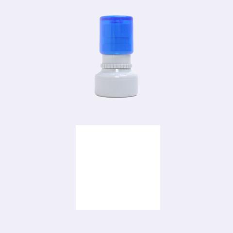 Retro Blocks Rubber Round Stamps (Small)