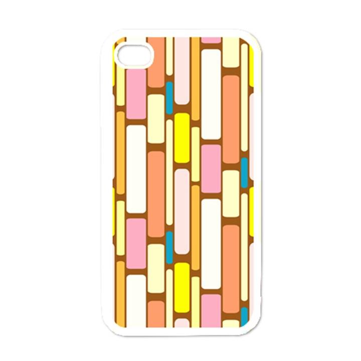 Retro Blocks Apple iPhone 4 Case (White)