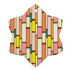 Retro Blocks Ornament (Snowflake)