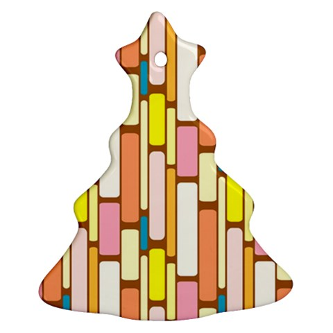 Retro Blocks Christmas Tree Ornament (2 Sides)