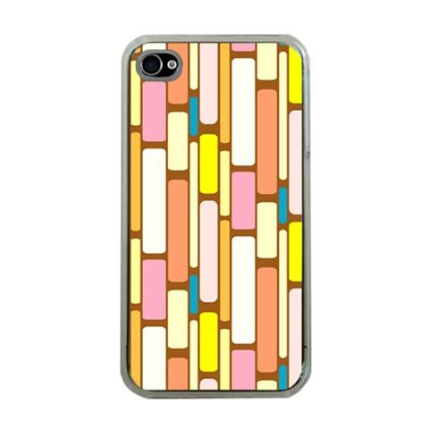 Retro Blocks Apple iPhone 4 Case (Clear)