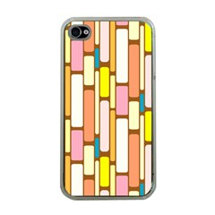 Retro Blocks Apple iPhone 4 Case (Clear)