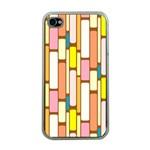 Retro Blocks Apple iPhone 4 Case (Clear) Front