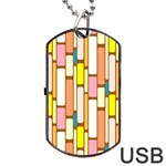 Retro Blocks Dog Tag USB Flash (One Side) Front