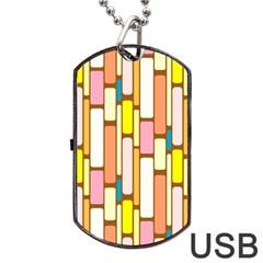 Retro Blocks Dog Tag USB Flash (Two Sides)