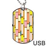 Retro Blocks Dog Tag USB Flash (Two Sides)  Back