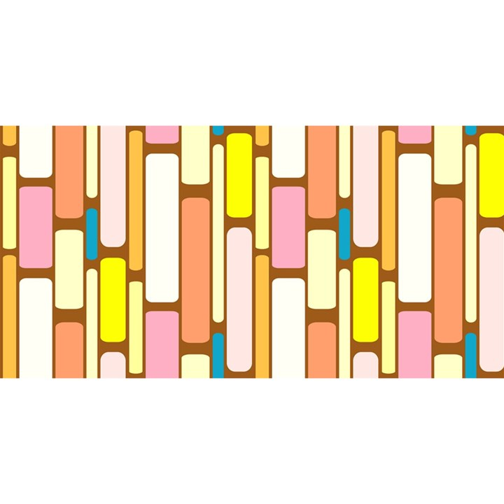 Retro Blocks YOU ARE INVITED 3D Greeting Card (8x4)