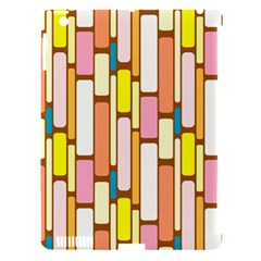 Retro Blocks Apple iPad 3/4 Hardshell Case (Compatible with Smart Cover)