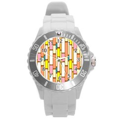 Retro Blocks Round Plastic Sport Watch (L)