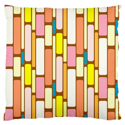 Retro Blocks Large Cushion Case (One Side)