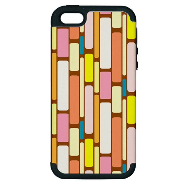 Retro Blocks Apple iPhone 5 Hardshell Case (PC+Silicone)
