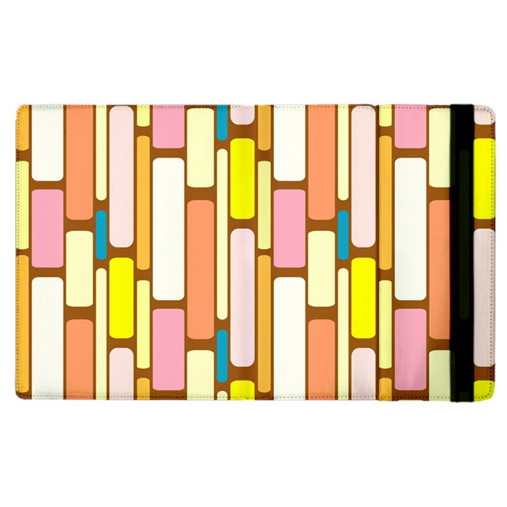 Retro Blocks Apple iPad 2 Flip Case