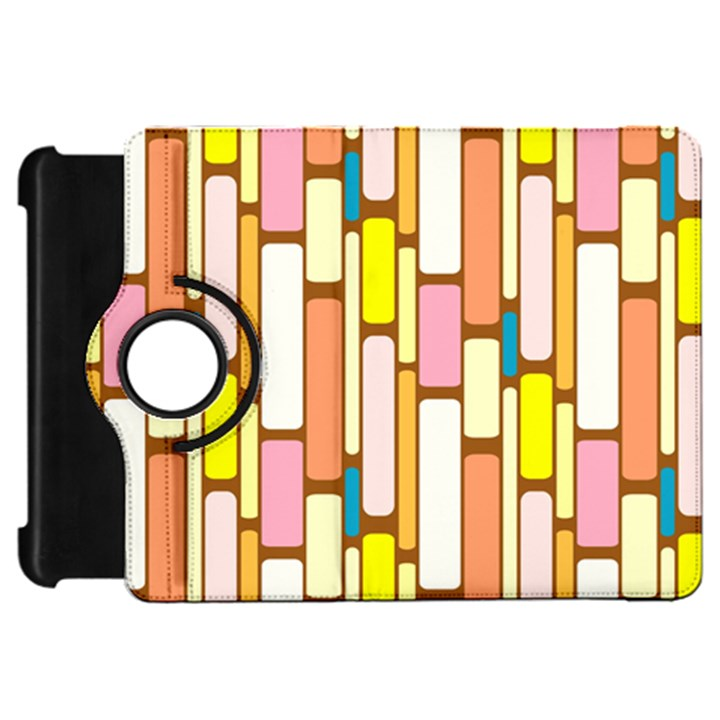 Retro Blocks Kindle Fire HD Flip 360 Case