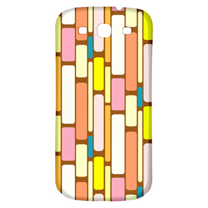 Retro Blocks Samsung Galaxy S3 S III Classic Hardshell Back Case