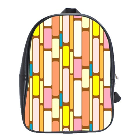 Retro Blocks School Bags (XL)