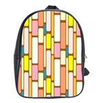 Retro Blocks School Bags (XL)  Front