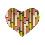 Retro Blocks Standard 16  Premium Heart Shape Cushions Back