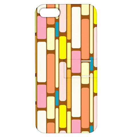 Retro Blocks Apple iPhone 5 Hardshell Case with Stand