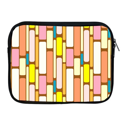 Retro Blocks Apple iPad 2/3/4 Zipper Cases