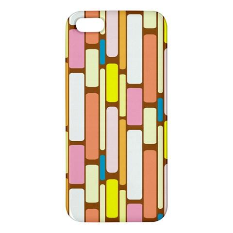 Retro Blocks iPhone 5S/ SE Premium Hardshell Case