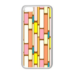 Retro Blocks Apple iPhone 5C Seamless Case (White)