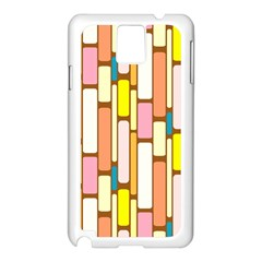 Retro Blocks Samsung Galaxy Note 3 N9005 Case (White)