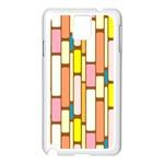 Retro Blocks Samsung Galaxy Note 3 N9005 Case (White) Front