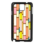 Retro Blocks Samsung Galaxy Note 3 N9005 Case (Black) Front
