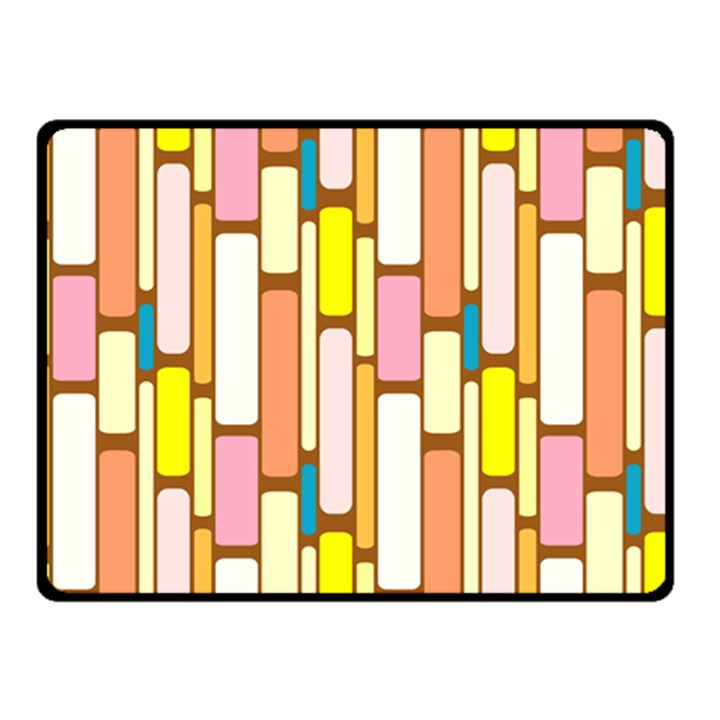 Retro Blocks Double Sided Fleece Blanket (Small)