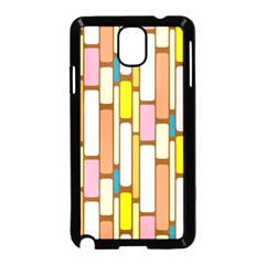 Retro Blocks Samsung Galaxy Note 3 Neo Hardshell Case (Black)