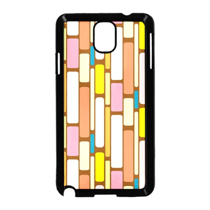 Retro Blocks Samsung Galaxy Note 3 Neo Hardshell Case (Black)