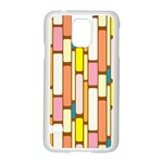 Retro Blocks Samsung Galaxy S5 Case (White) Front