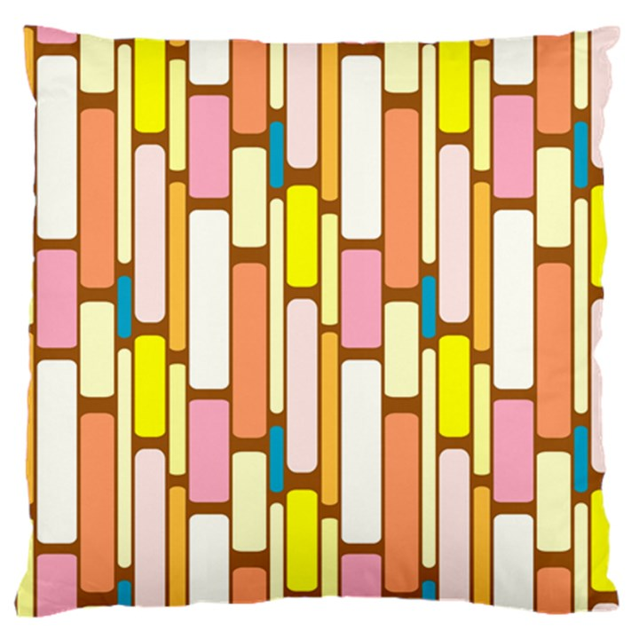 Retro Blocks Standard Flano Cushion Case (One Side)