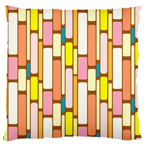 Retro Blocks Large Flano Cushion Case (One Side)