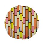 Retro Blocks Standard 15  Premium Flano Round Cushions Back