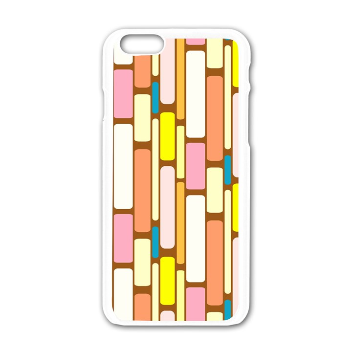 Retro Blocks Apple iPhone 6/6S White Enamel Case