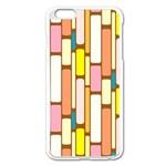 Retro Blocks Apple iPhone 6 Plus/6S Plus Enamel White Case Front