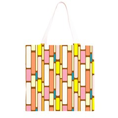 Retro Blocks Grocery Light Tote Bag