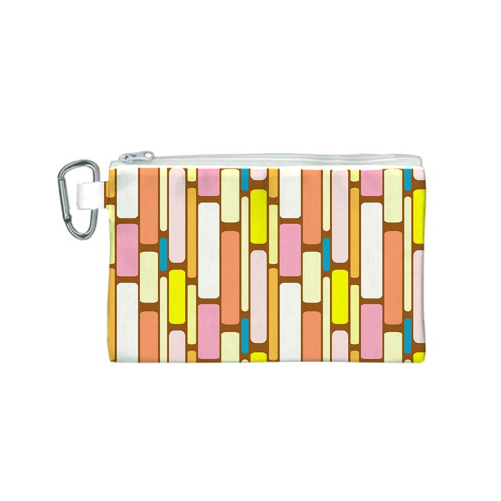 Retro Blocks Canvas Cosmetic Bag (S)