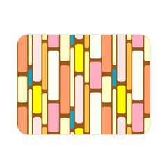 Retro Blocks Double Sided Flano Blanket (Mini)