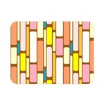 Retro Blocks Double Sided Flano Blanket (Mini)  35 x27 Blanket Back