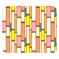 Retro Blocks Double Sided Flano Blanket (Small)