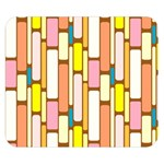 Retro Blocks Double Sided Flano Blanket (Small)  50 x40 Blanket Front