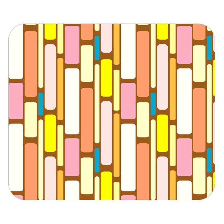 Retro Blocks Double Sided Flano Blanket (Small)