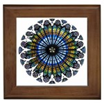 Rose Window Strasbourg Cathedral Framed Tiles Front