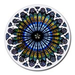 Rose Window Strasbourg Cathedral Round Mousepads Front