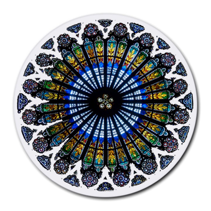 Rose Window Strasbourg Cathedral Round Mousepads