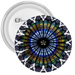 Rose Window Strasbourg Cathedral 3  Buttons Front